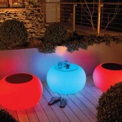 Table ( pouf) lumineuse Bubble
