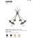 Lustre Chandelier 6 bras industriel Design Hakone