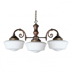 Lustre traditionnel 3 ou 5 bras Design Clones Ancienne Ecole