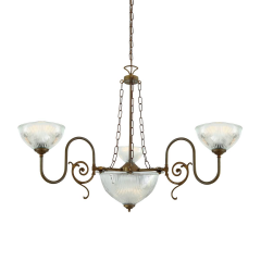 Lustre Chandelier traditionnel 3 bras Design Padang