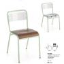 Chaise empilable Design Tonix