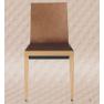 Chaise empilable mixte acier/bois Design Etna