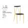 Chaise mixte acier/bois empilable Design Laura