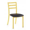 Chaise mixte acier/bois Design Capri