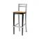 Tabouret de bar mixte acier/bois Design Capri