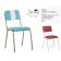 Chaise empilable Design Retro
