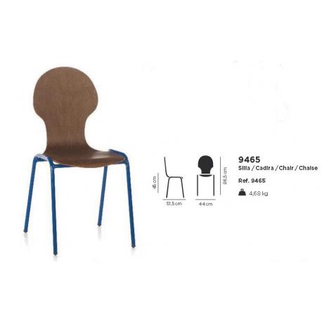 Chaise bois Design Silhouette B