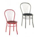 Chaise mixte acier/bois Design Sunny