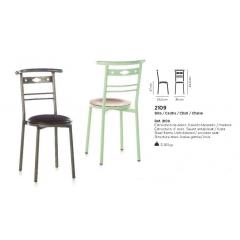 Chaise mixte acier/bois Design 2109