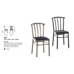 Chaise acier Design 208