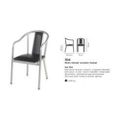Fauteuil acier Design 304