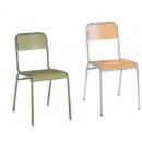 Chaise mixte acier/bois Design Classiq