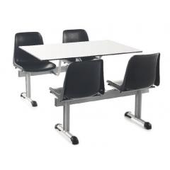 Ensemble sièges et table fixe Design Repas