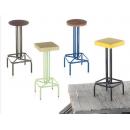 Tabouret de bar mixte acier/bois Design Twist