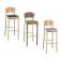 Tabouret de bar mixte acier/bois Design Carla