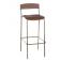 Tabouret de bar mixte acier/bois Design Lido