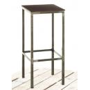 Tabouret de bar mixte acier/bois Design Cubica