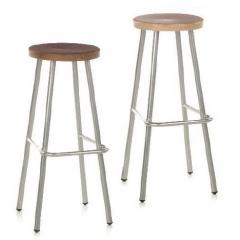 Tabouret de bar avec repose pieds Design Sicent