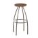 Tabouret de bar mixte acier/bois Design Trente