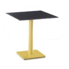Pied de Table rond base rectangulaire en acier Design Nice