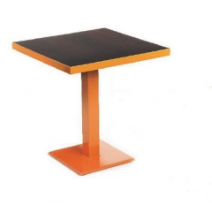 Pied de Table simple ou double en acier rectangulaire Design Bordeaux