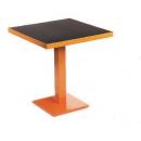 Pied de Table simple ou double en acier rectangulaire Design Bordeaux