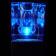 Pack de 2 centres de table lumineux en verre Cristal