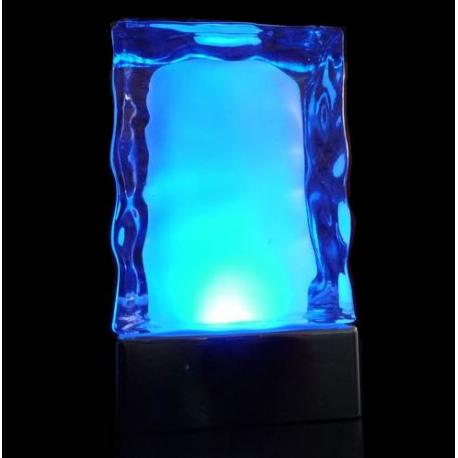 Pack de 2 centres de table lumineux en verre Design Spa