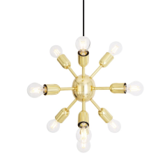 Lustre Chandelier 10 bras Design Glenties Spoutnik