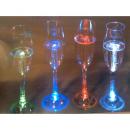 Coffret 4 flûtes à Champagne et vin blanc à led rechargeable et en verre