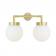 Applique pour extérieur et salle de bain éclairage double Design Jordan IP65